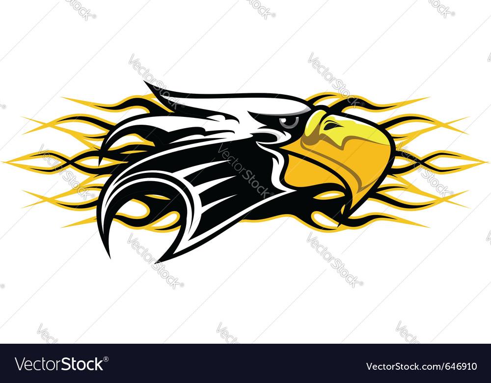 Eagle cartoon mascot vector