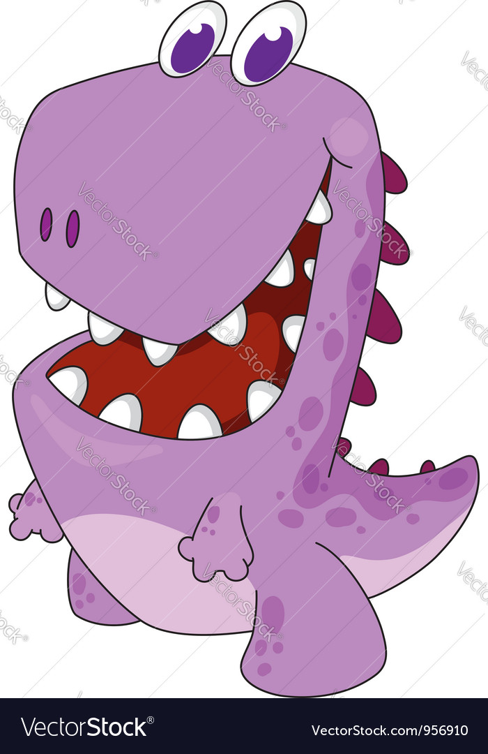 Nice cartoon dinosaur vector