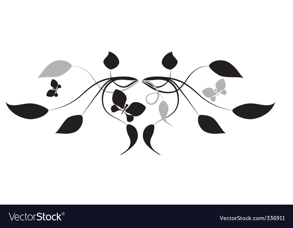 Leaves vignette vector