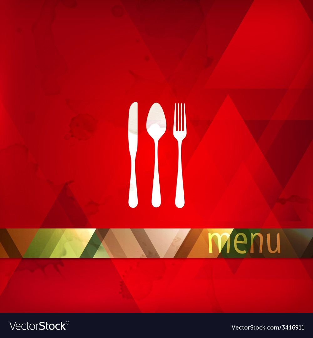 Restaurant menu design with spoon fork and knife vector