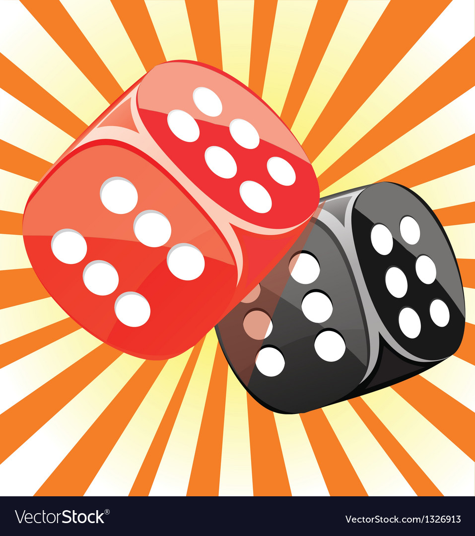 Dice lucky casino gambling game win success vector