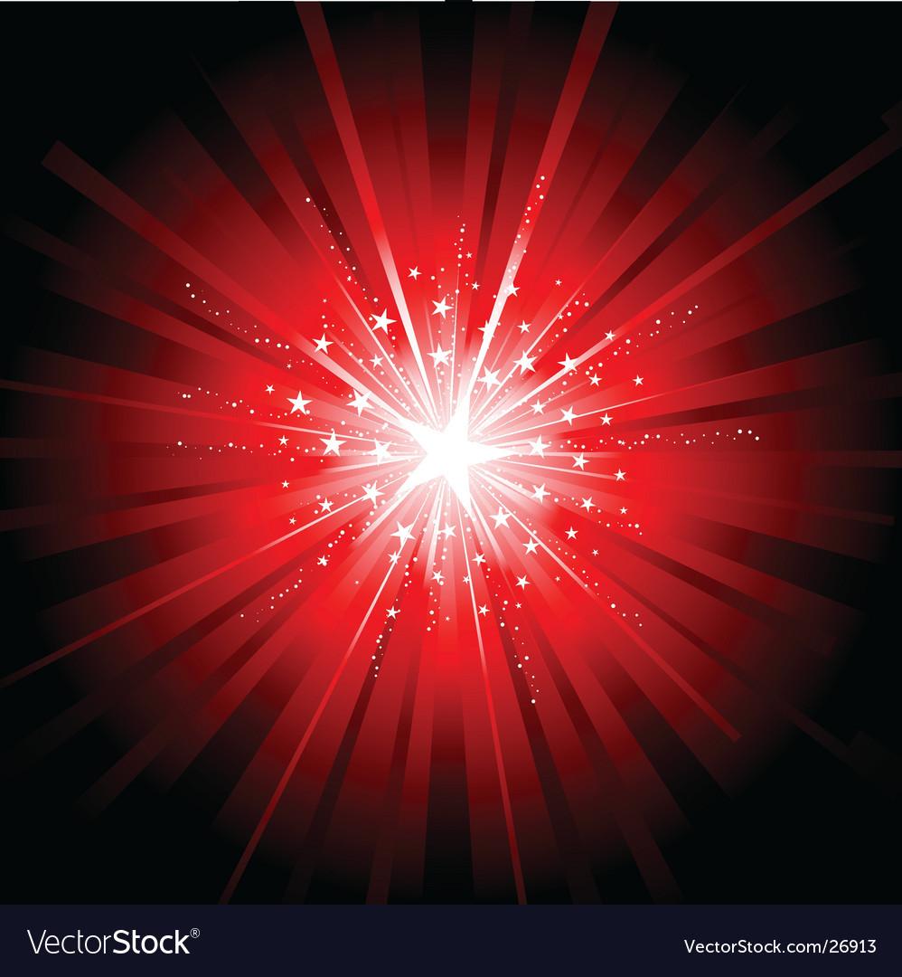Red star burst vector