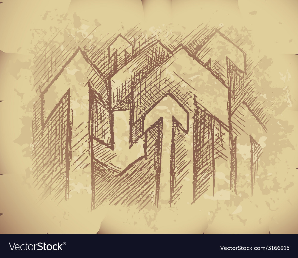 Arrows on old paper vector