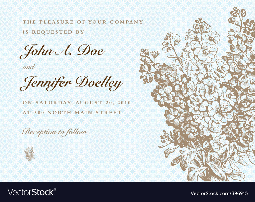 Formal invitation vector