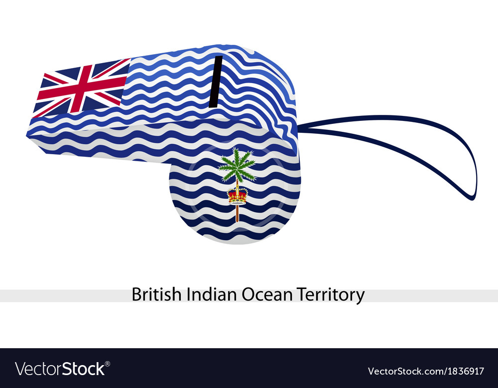A white whistle of british antarctic territory vector