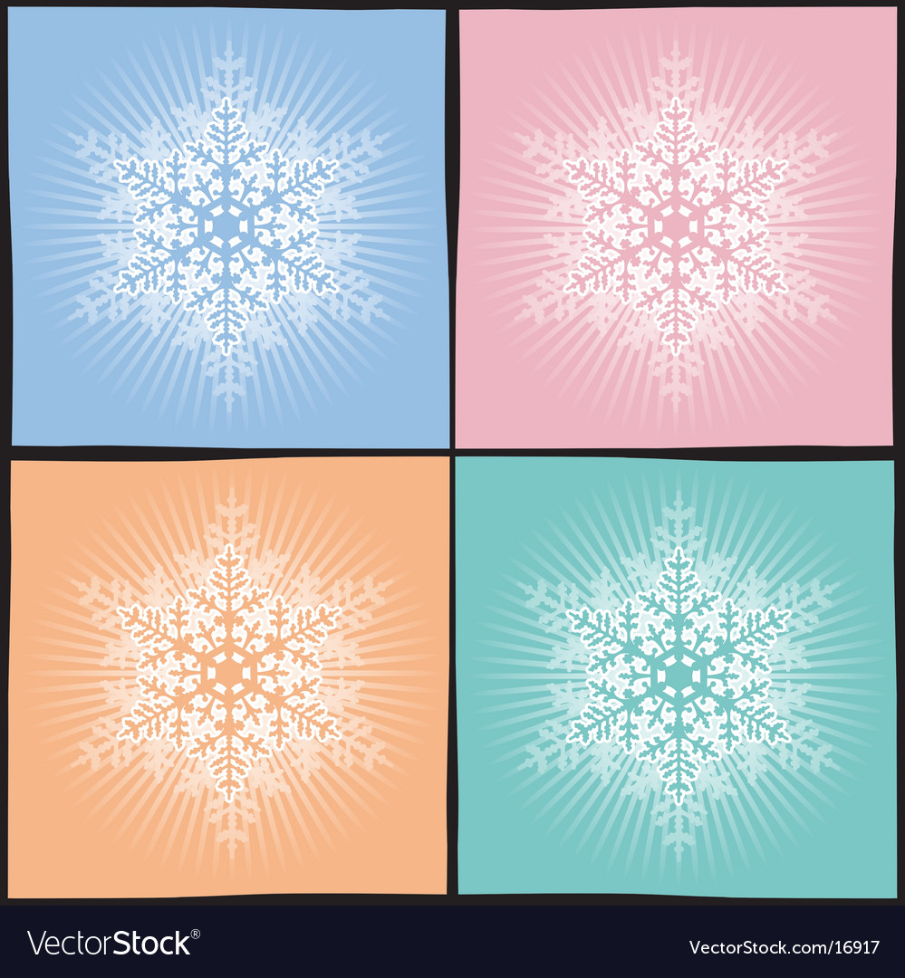 Background snowflake vector