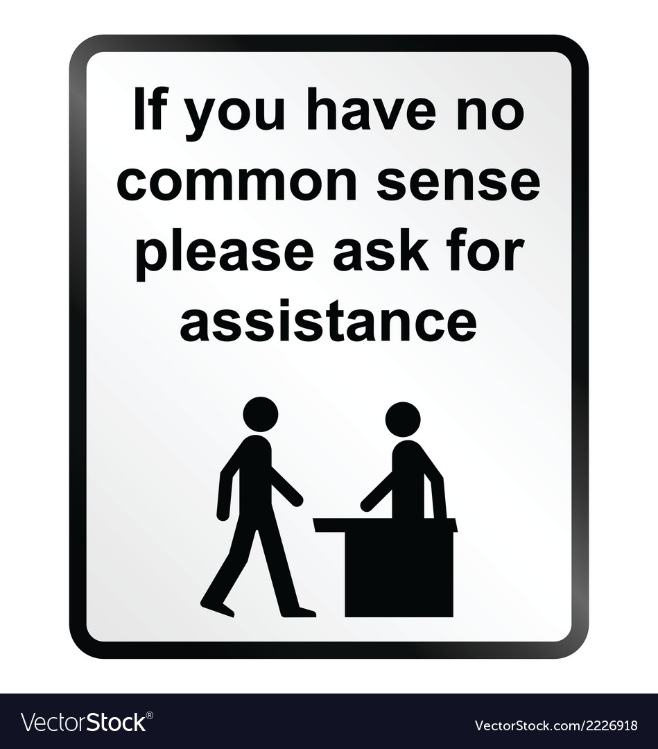 Common sense information sign vector