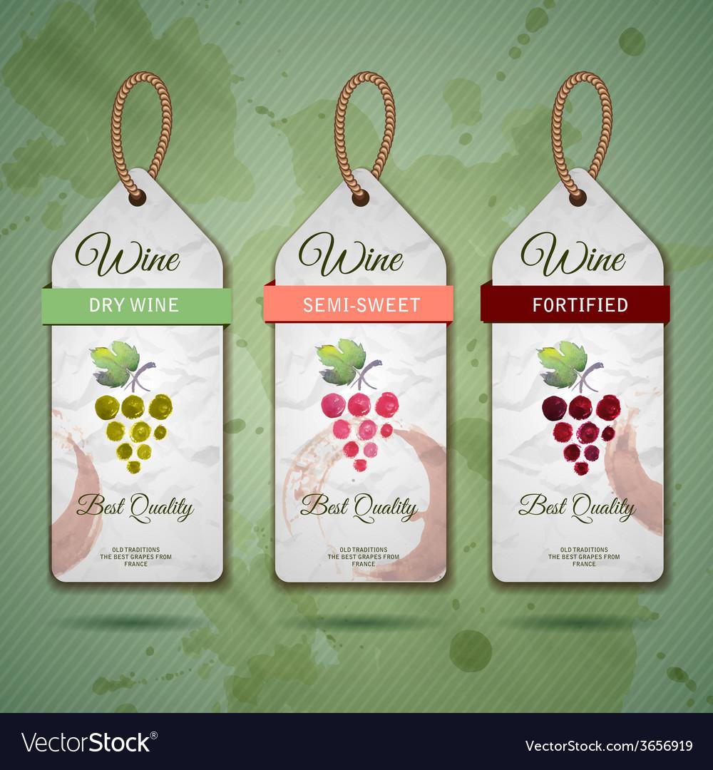 Grapes or wine concept design vector