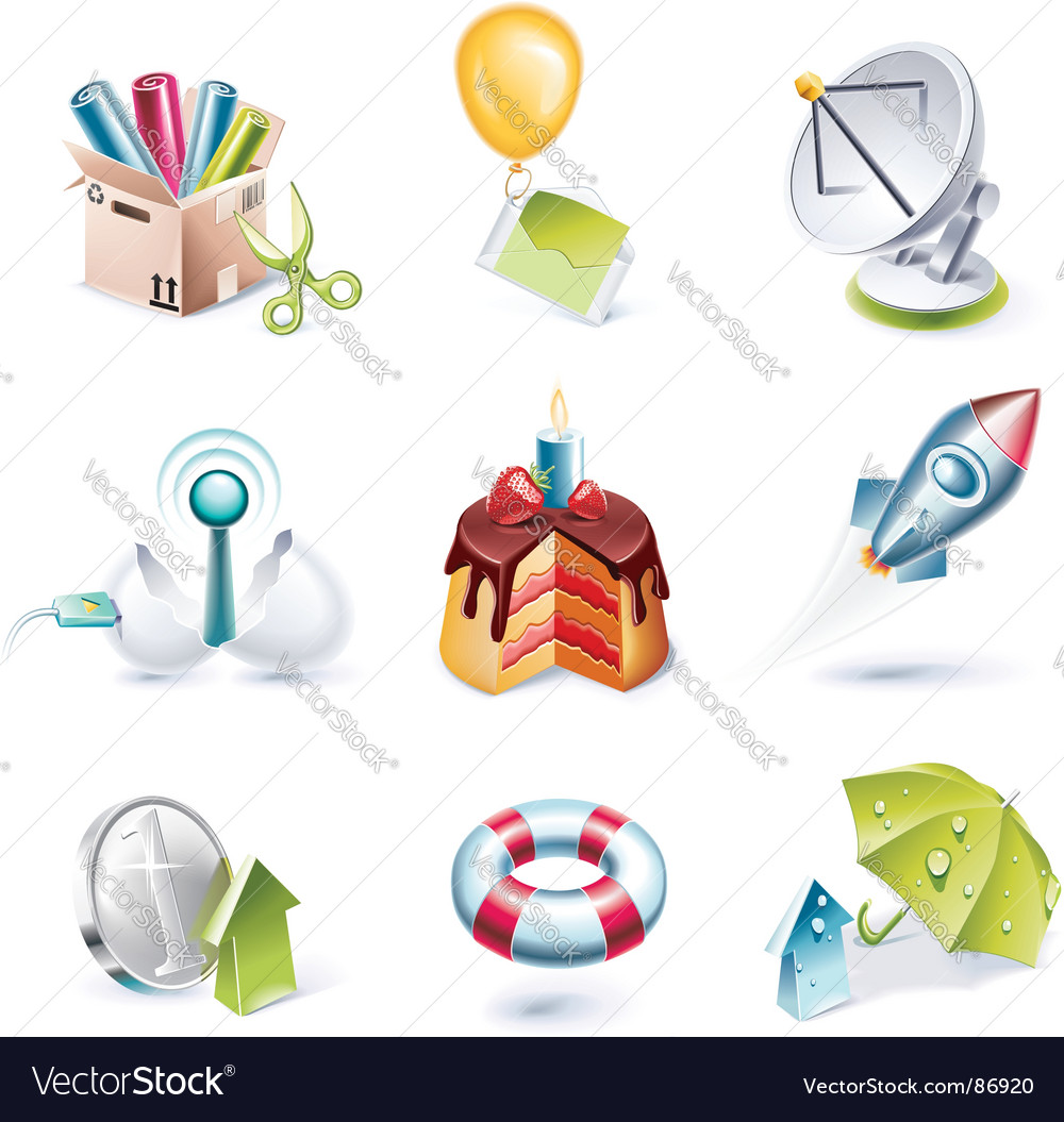 Cartoon icon vector