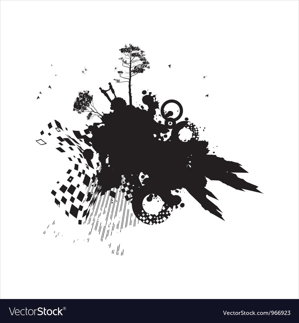 Grunge romance concept background vector