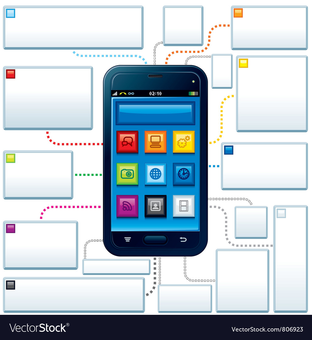 Smartphone guide vector