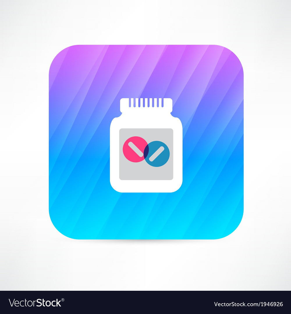 Jar with pills vector