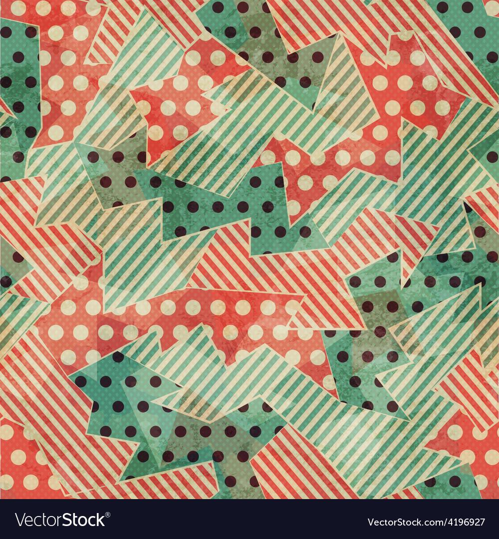 Vintage cloth geometric seamless texture vector