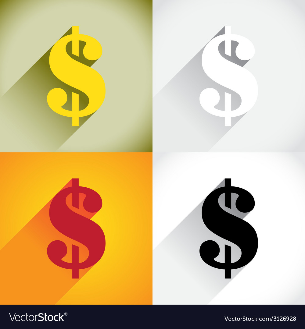 Dollar currency symbol vector