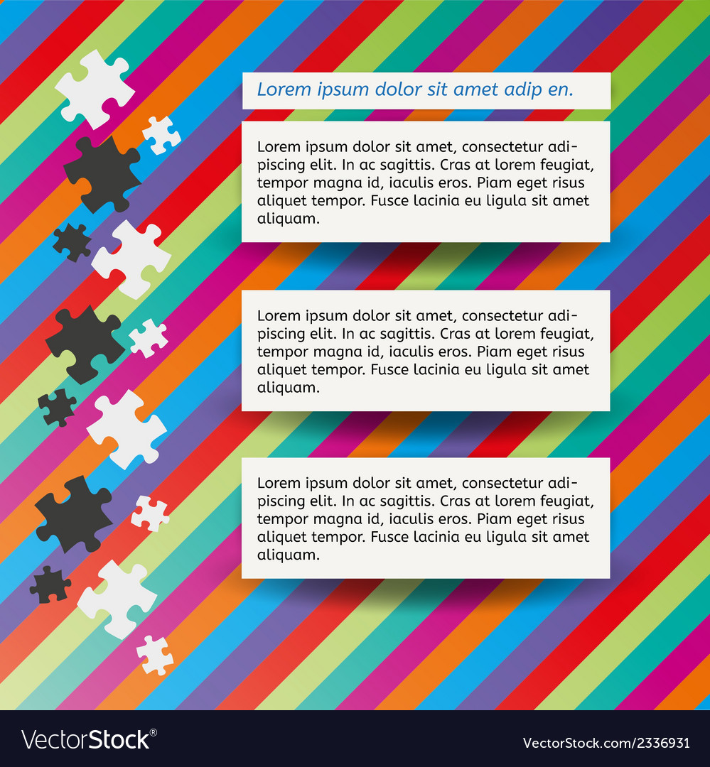 Three notes and puzzle vector