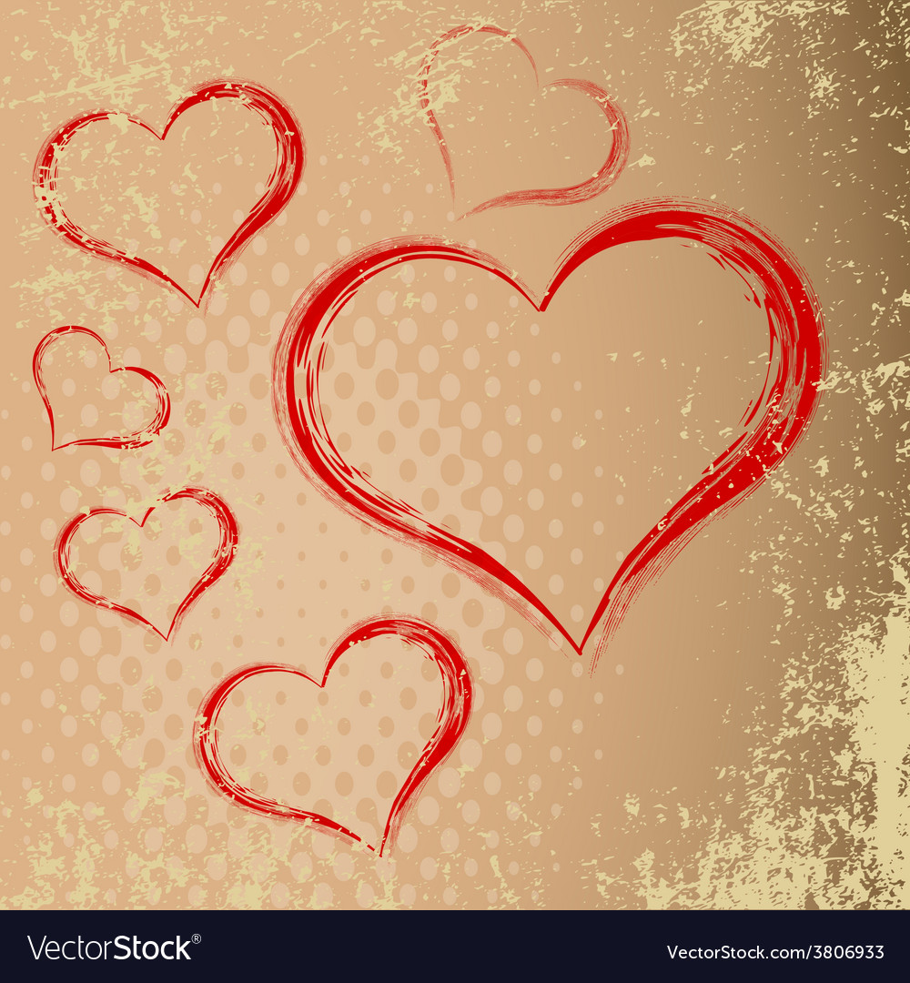Drawing in the shape of heart abstract heart with vector