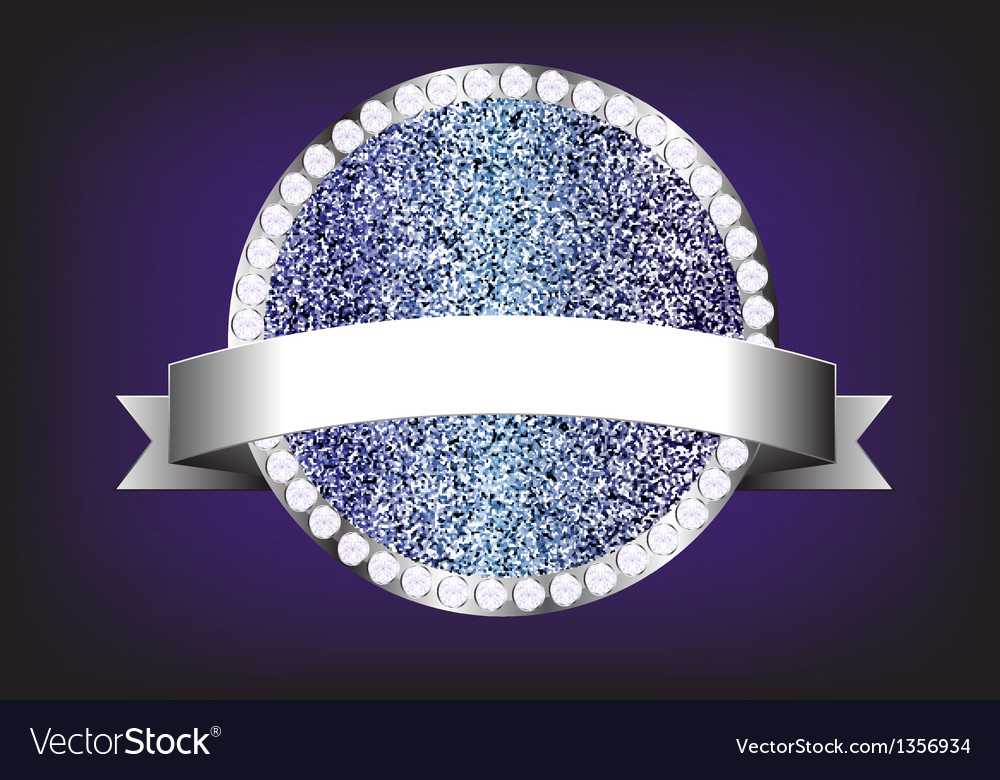 Label diamond sparkle glitter vector