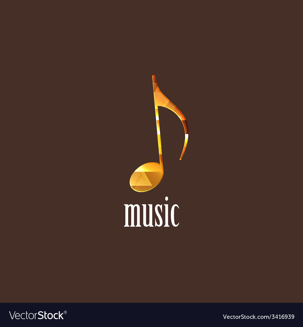 With diamond musical note vector