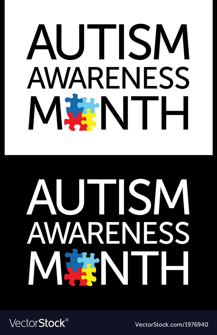 Autism awareness month vector
