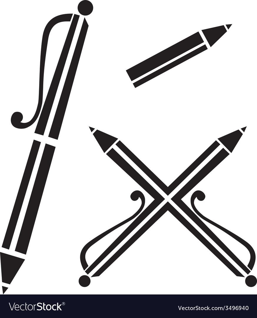 Pen sign vector