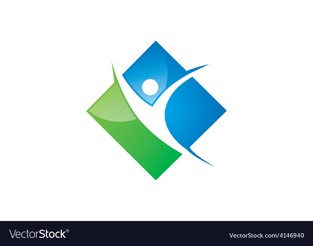Success people sport logo vector