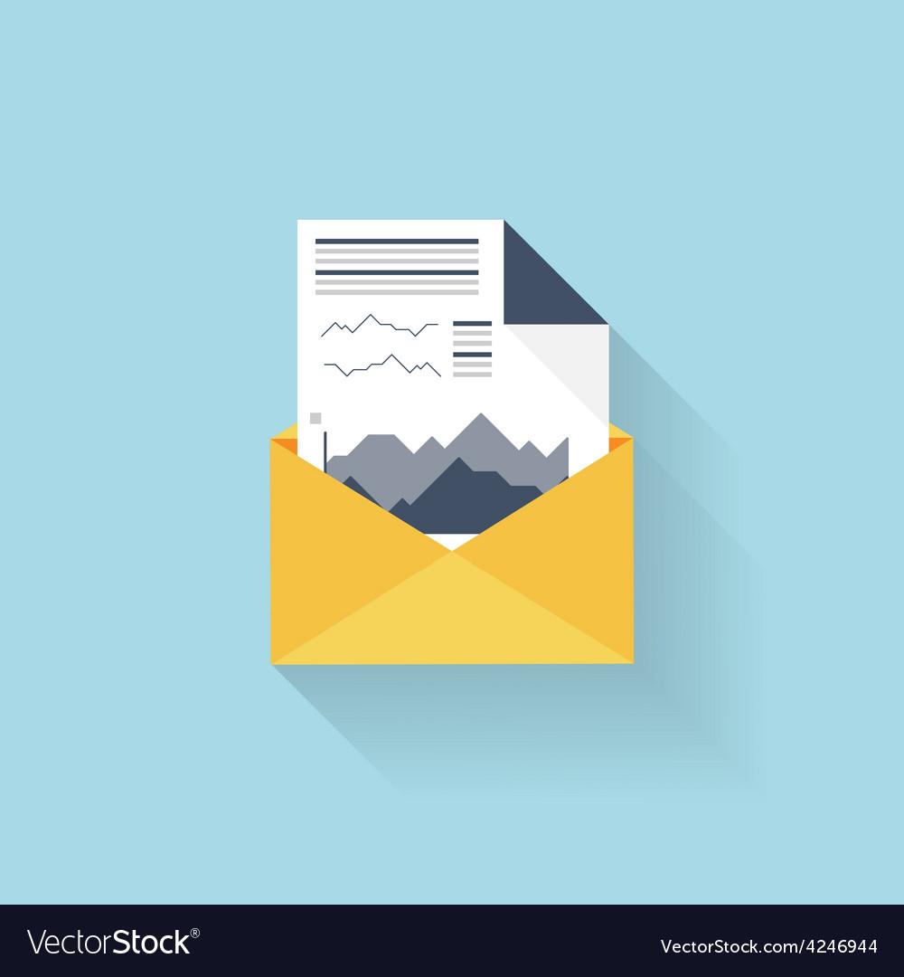 Flat web icon financial report vector