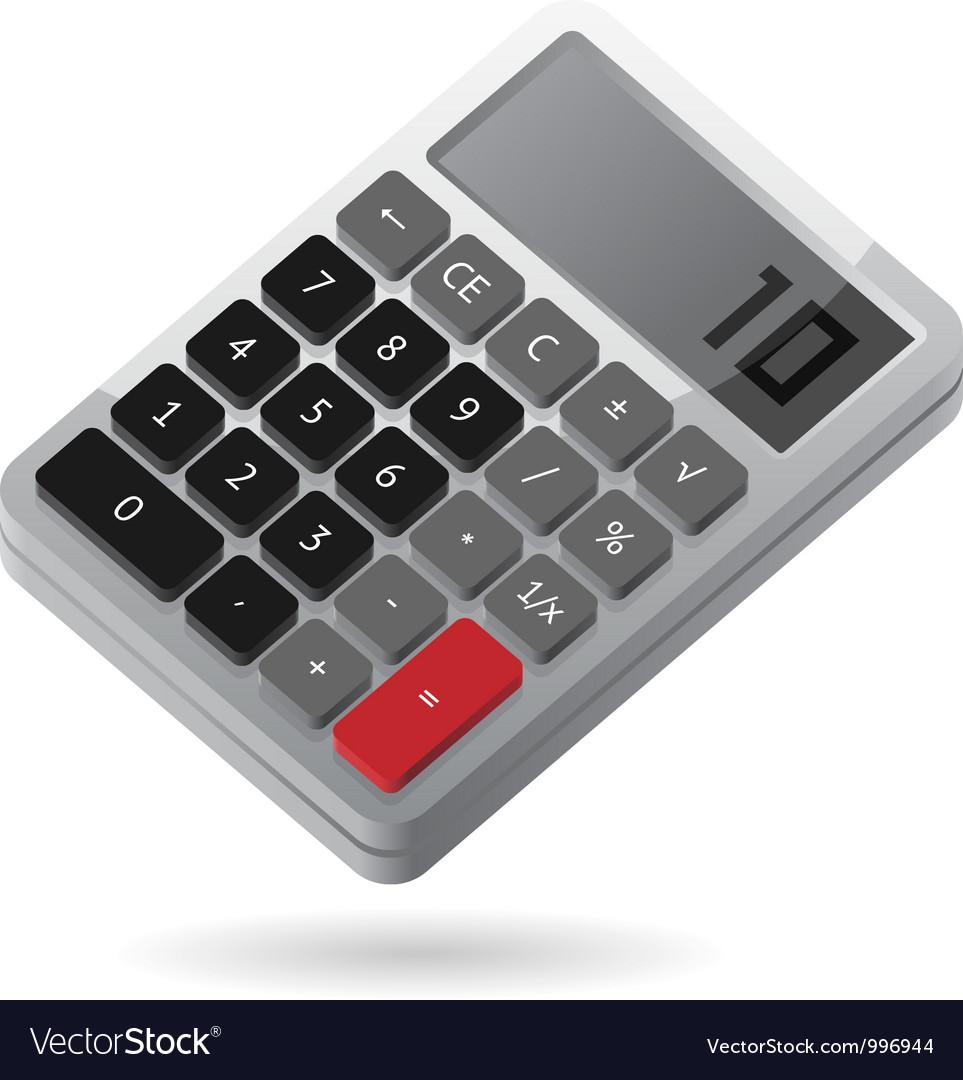 Isometric icon of calculator vector