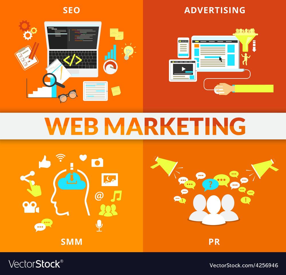 Web marketing vector