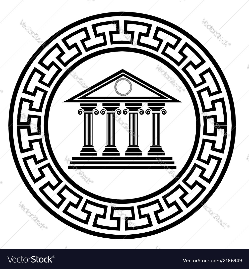 Old temple vector