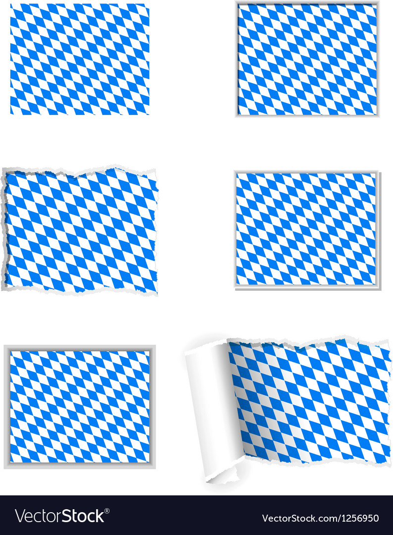 Bavaria flag set vector