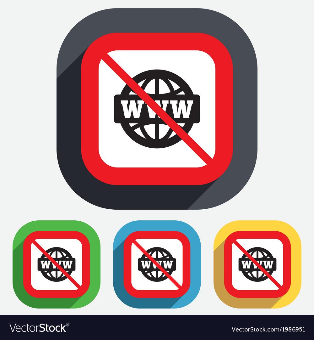 No internet www sign icon world wide web vector