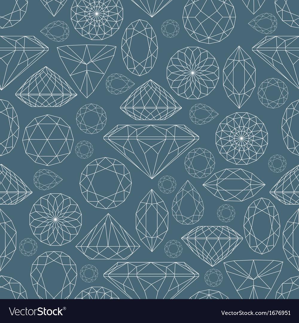 Seamless diamond pattern 2 vector