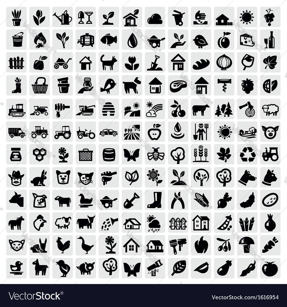 Farming icon vector