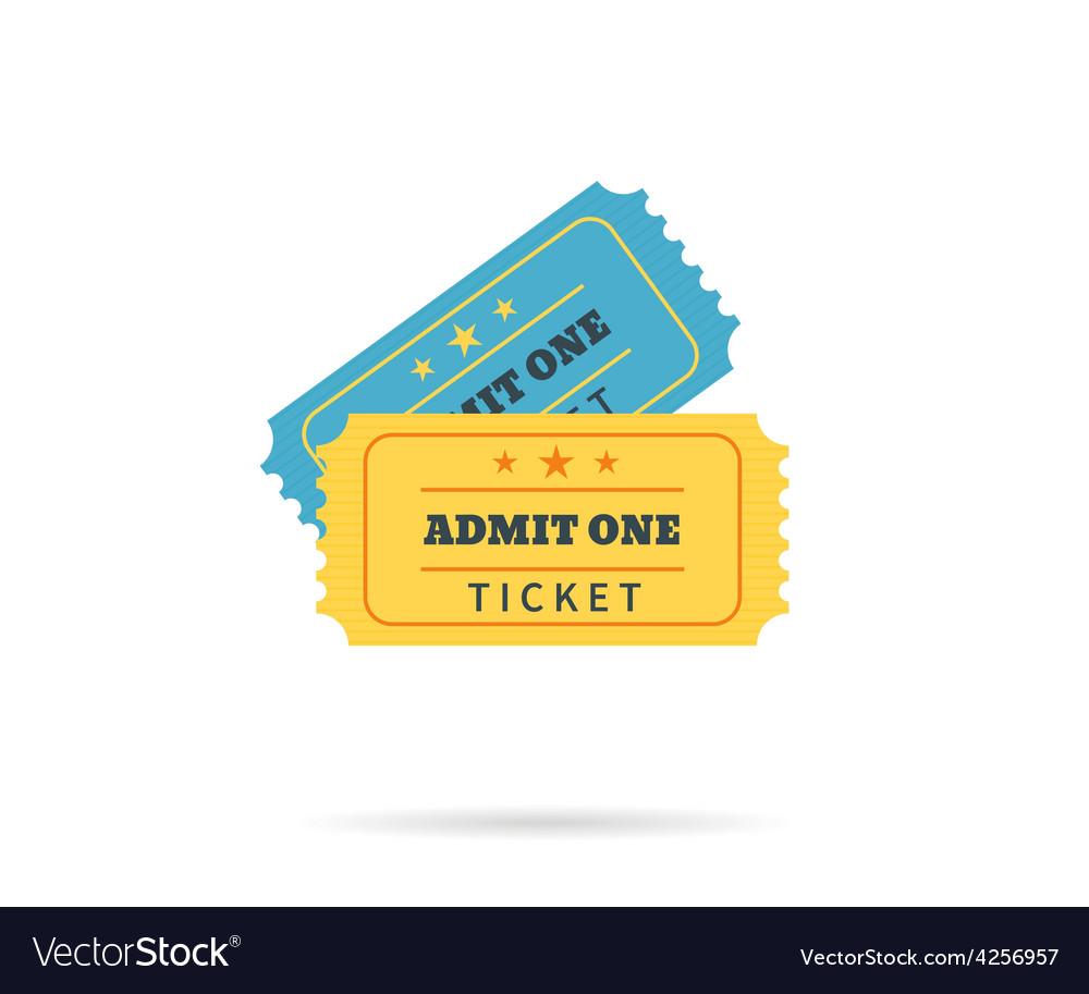 Two retro tickets vector
