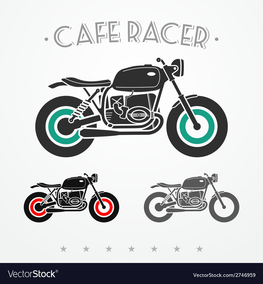 Retro motorcycle vector