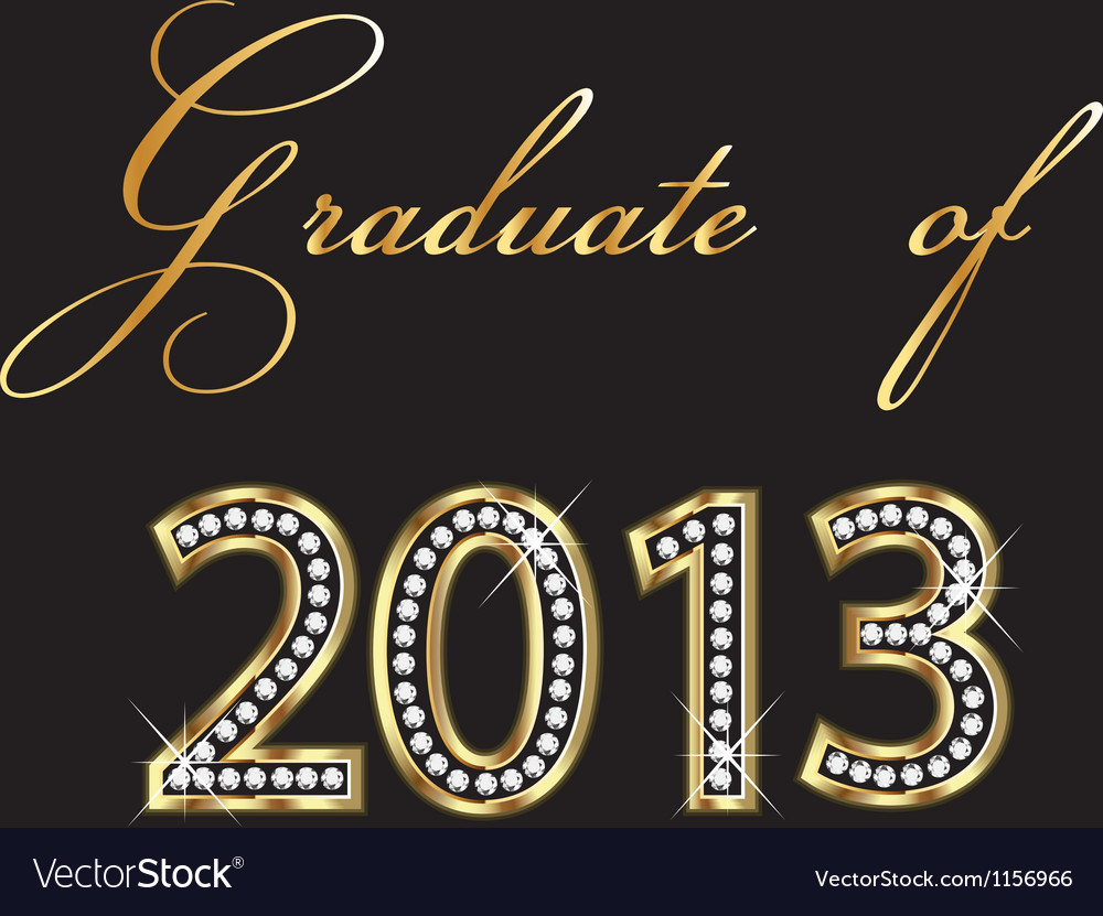 Graduates of 2013 design vector