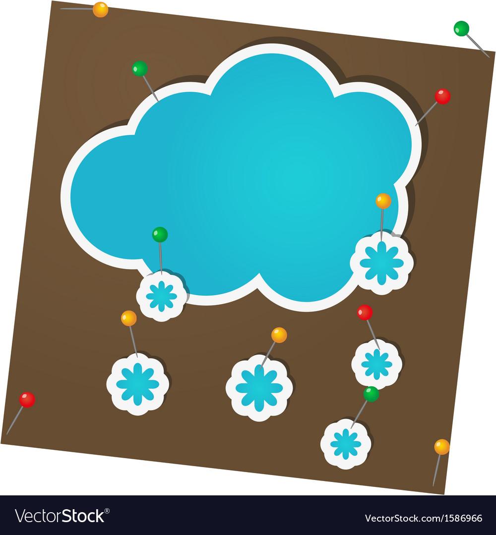 Sticker winter vector
