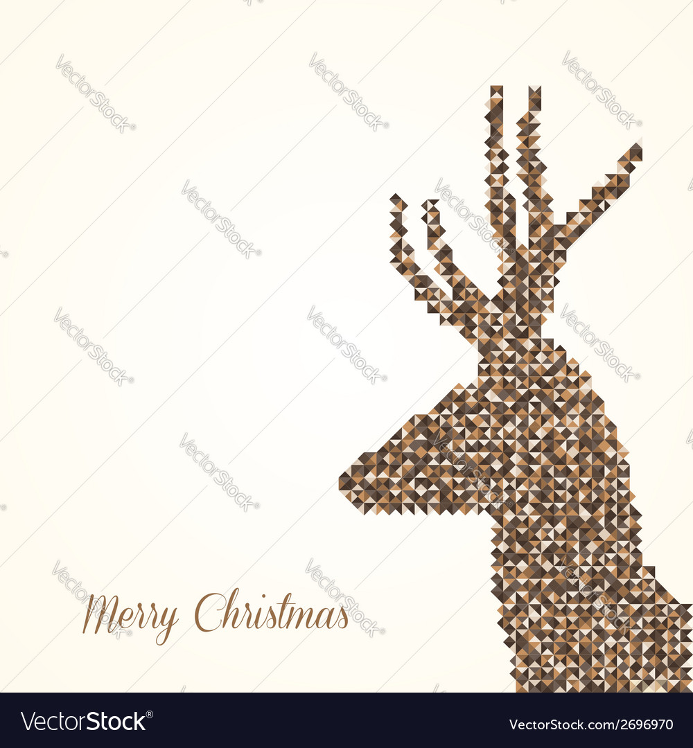Merry christmas abstract reindeer vector