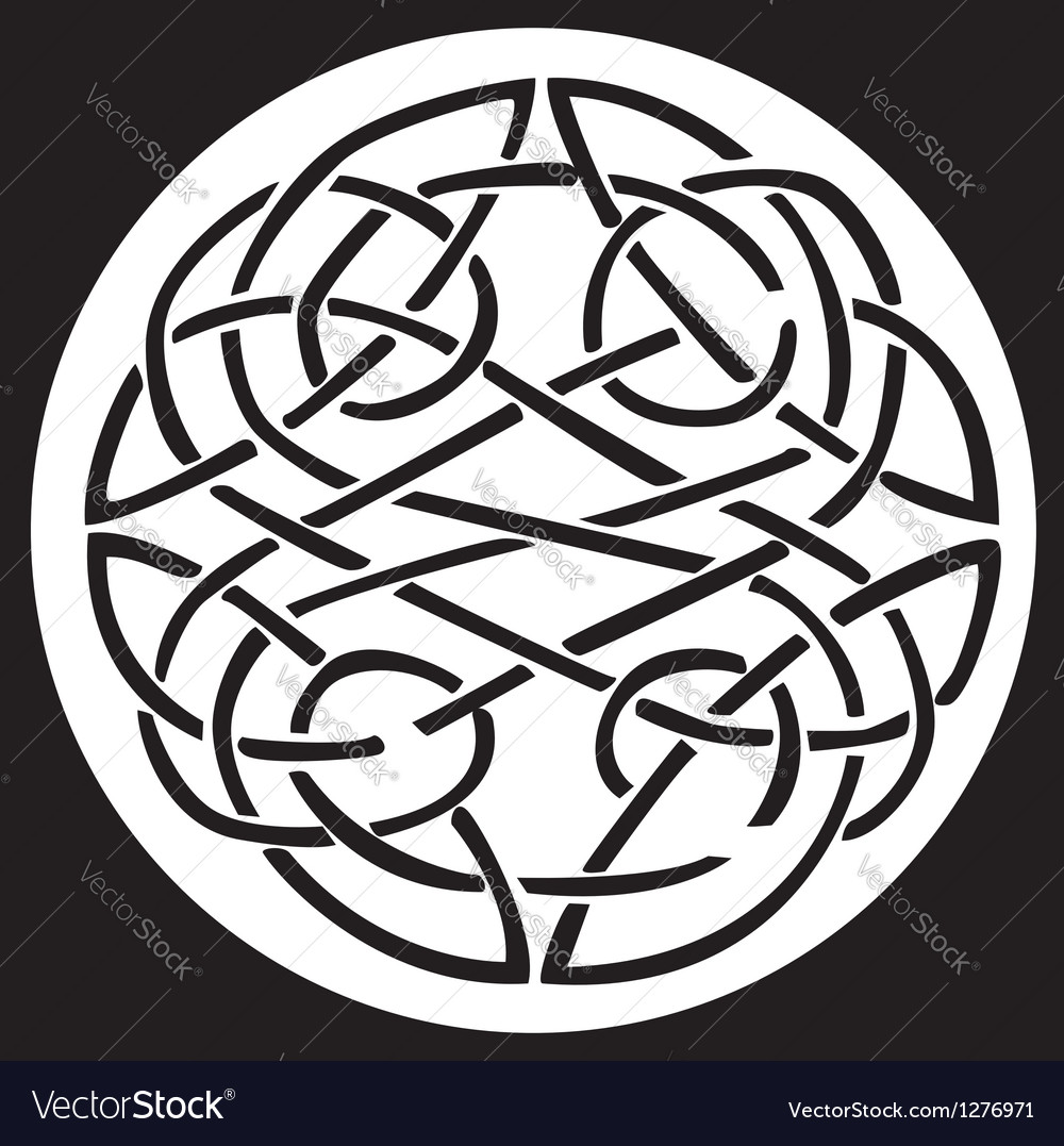 Celtic knot pattern design vector
