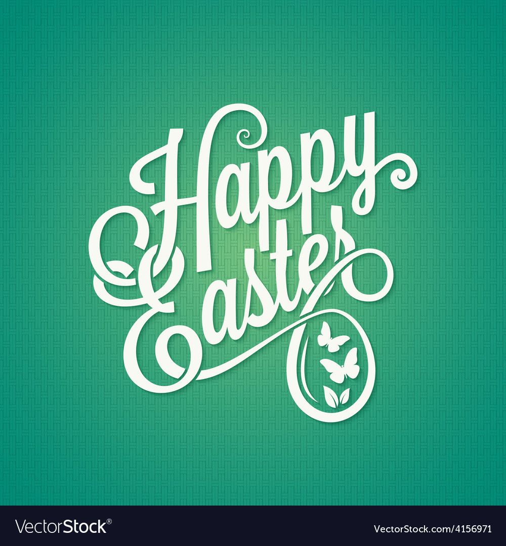 Easter vintage sign background vector
