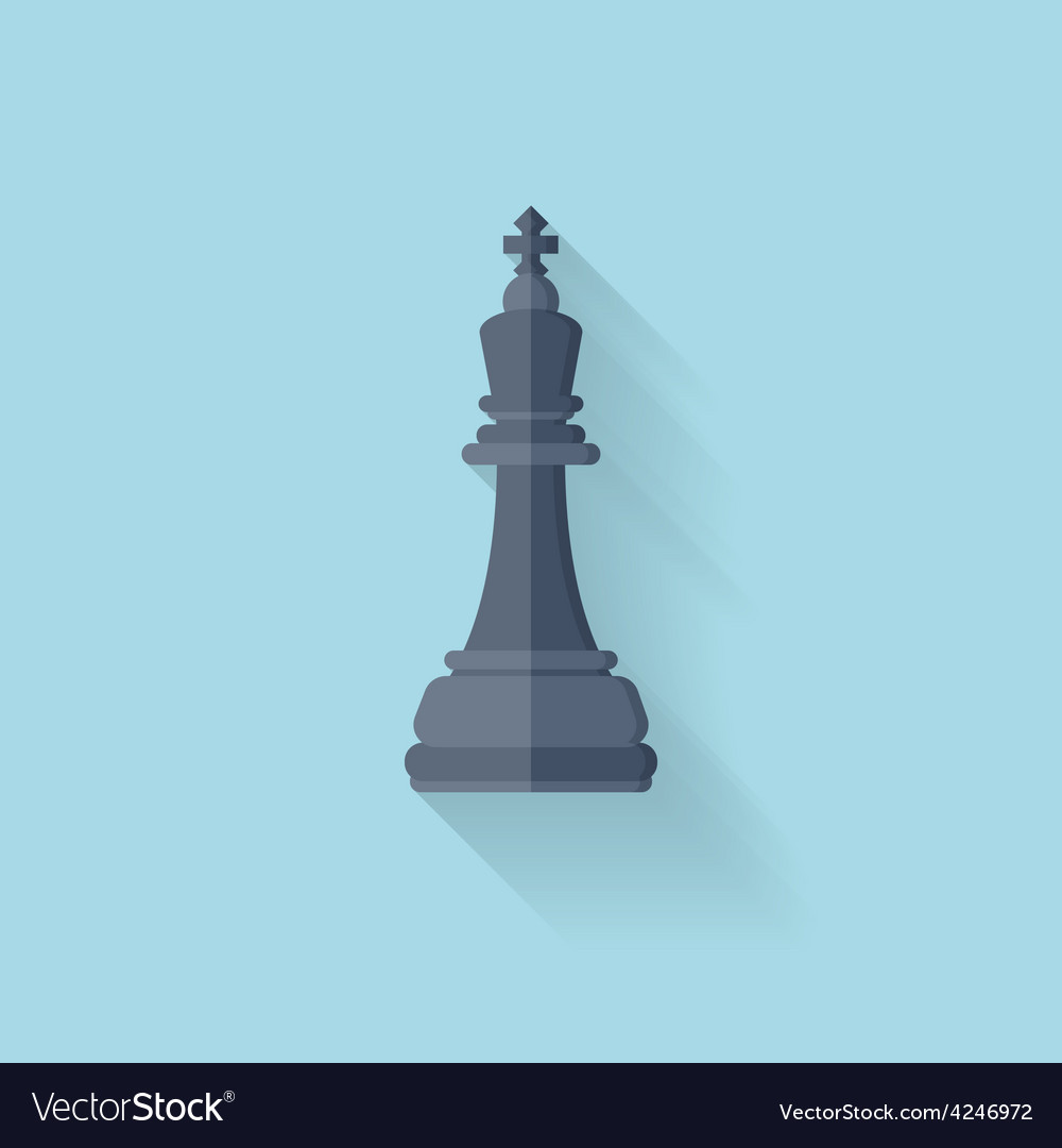 Flat web icon chess figure vector