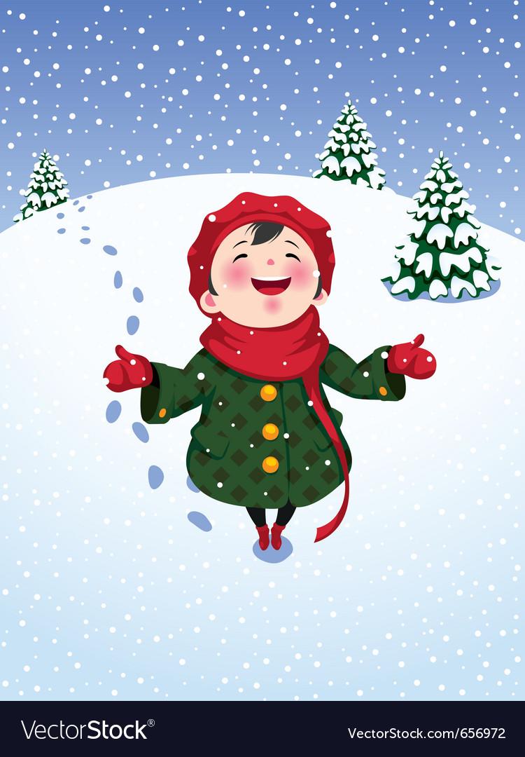 Winter joy vector