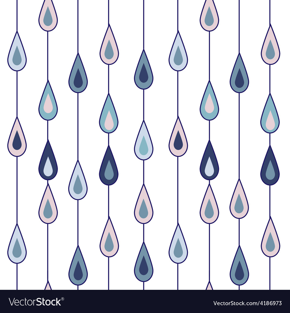 Drops of rain vector