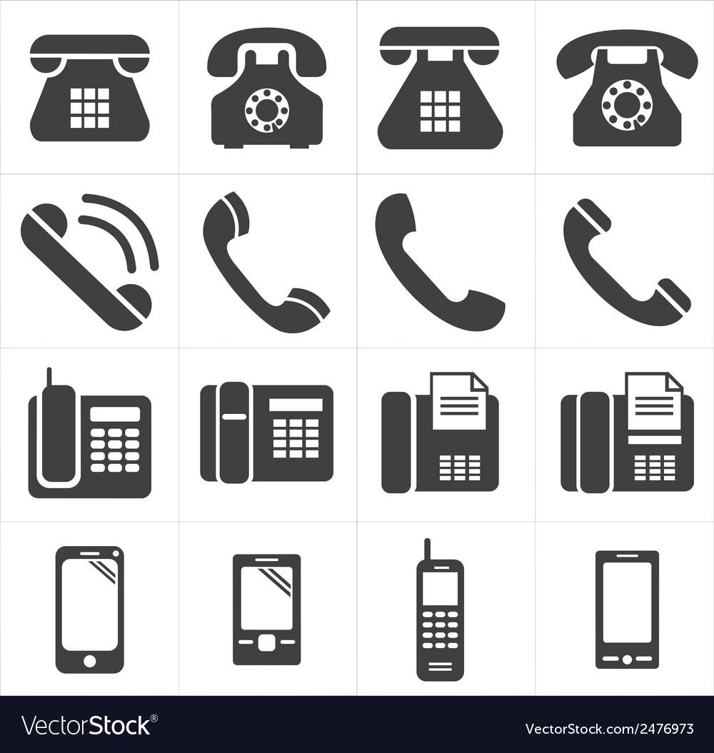 Icon telephone classic to smartphone vector