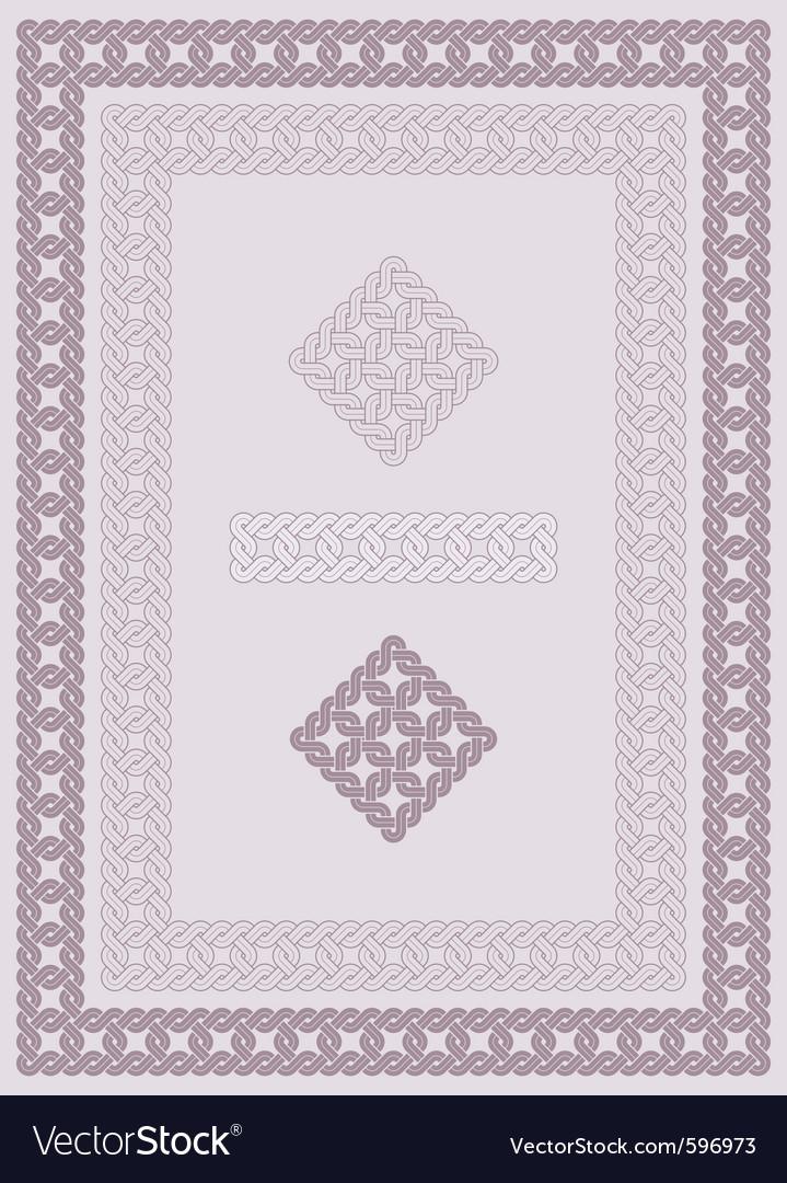 Ornament knot vector
