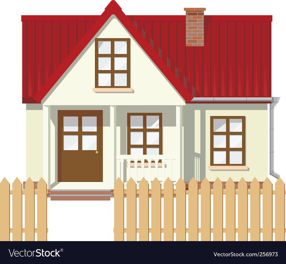 Rural house vector