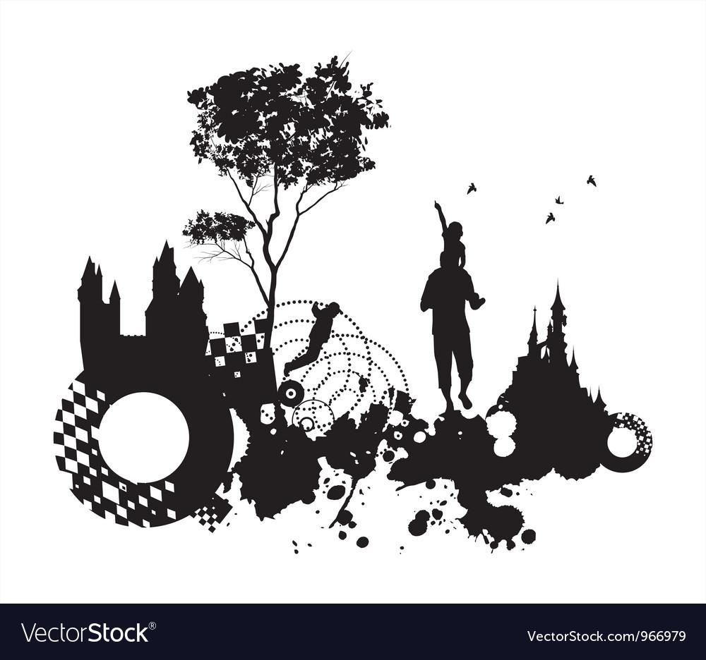 Past present concept background vector