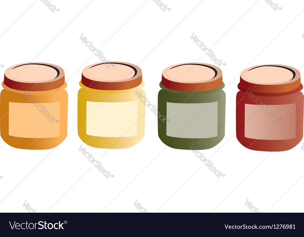 Baby pots food vector
