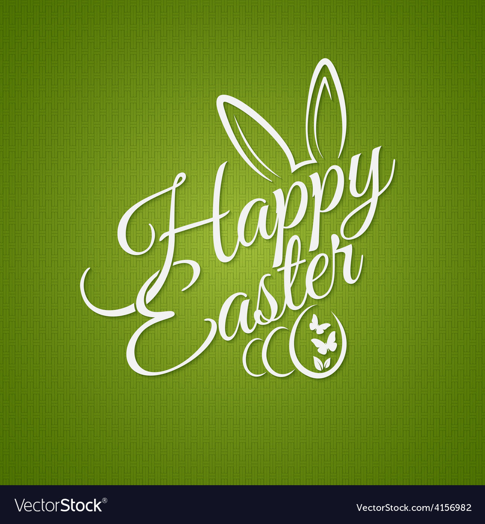 Easter vintage lettering design background vector