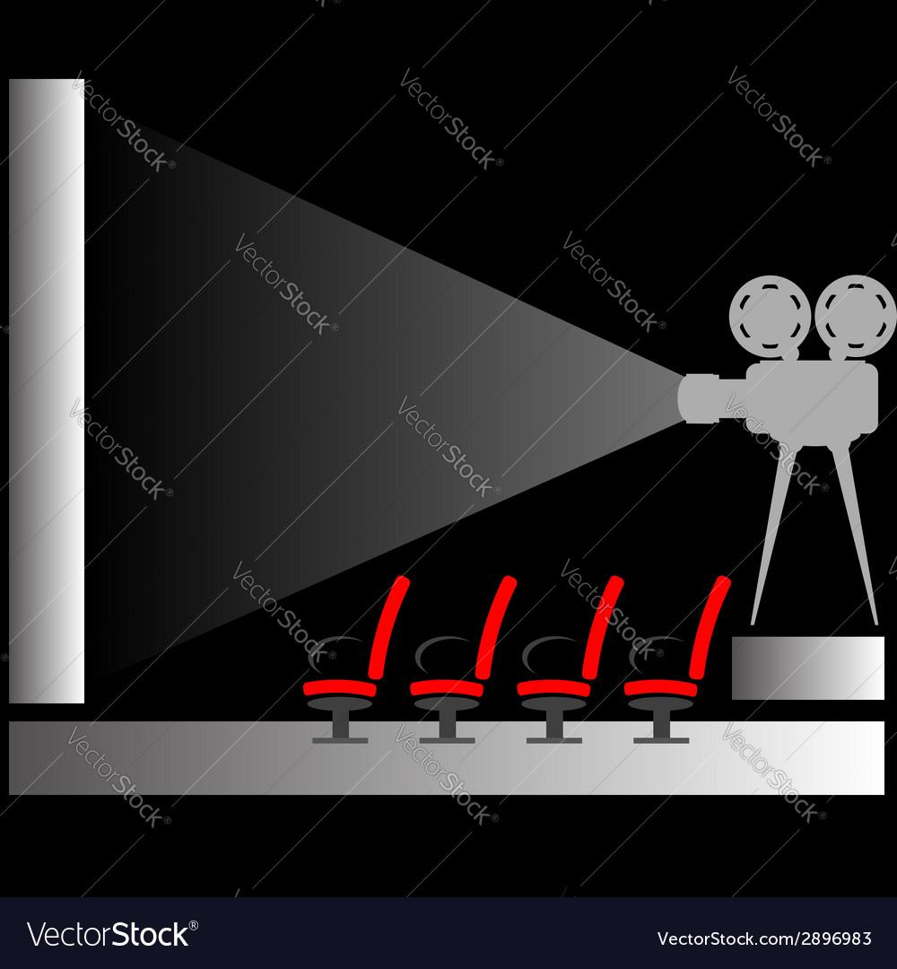 Cinema silhouette vector